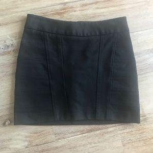 BCBG black mini skirt